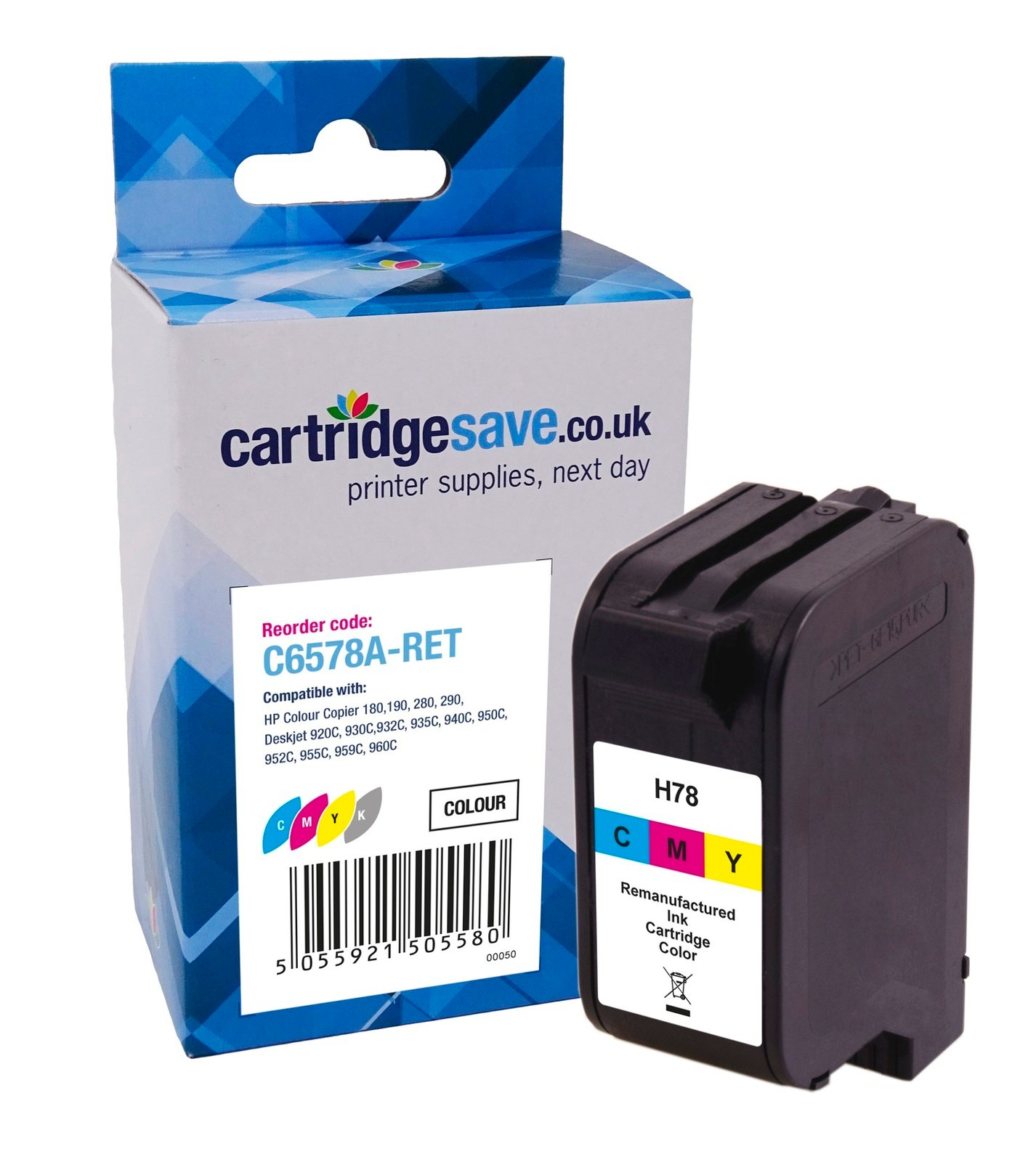 Compatible High Capacity Tri-Colour HP 78XL Printer Cartridge - (HP C6578AE)