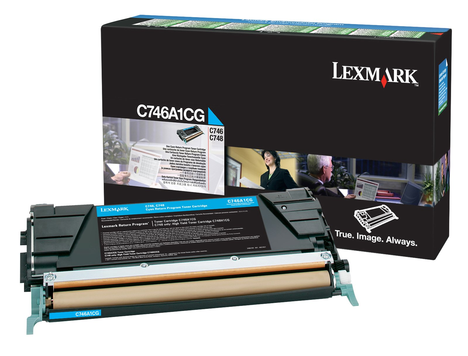 Genuine Cyan Return Program Lexmark C746A1CG Toner Cartridge - (0C746A1CG)