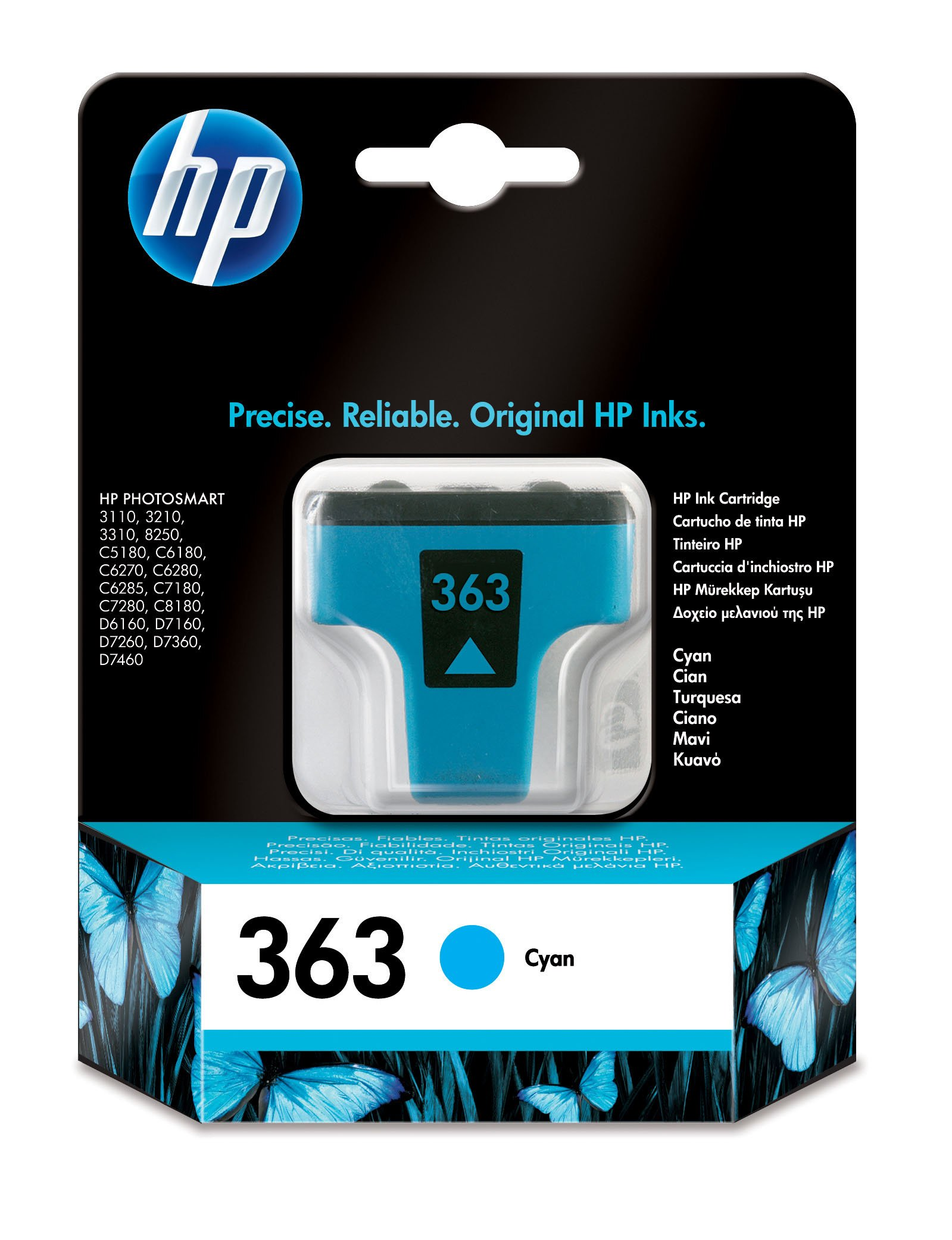 Genuine Cyan HP 363 Ink Cartridge - (Vivera C8771EE)