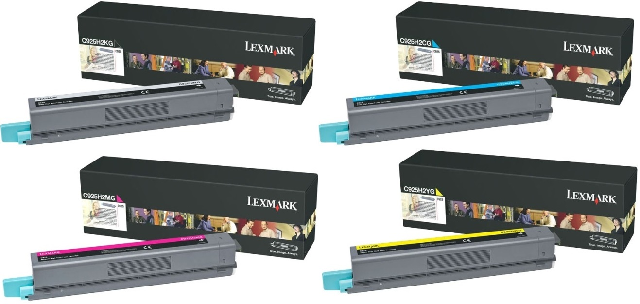 Genuine 4 Colour Lexmark C925H2 Toner Cartridge Multipack - (C925H2KG/CG/MG/YG)