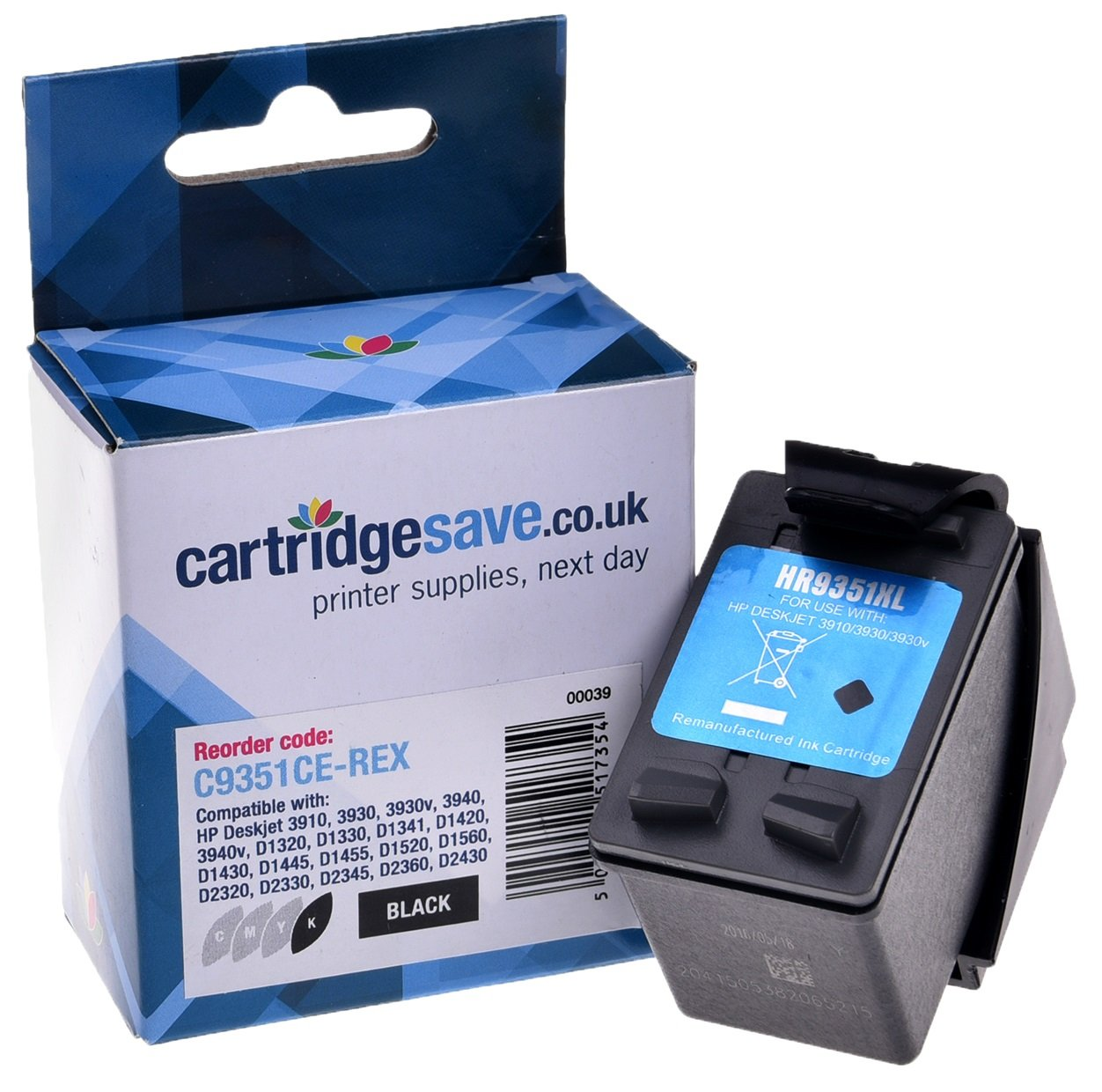 Compatible High Capacity Black HP 21XL Ink Cartridge - (Replaces HP C9351CE)