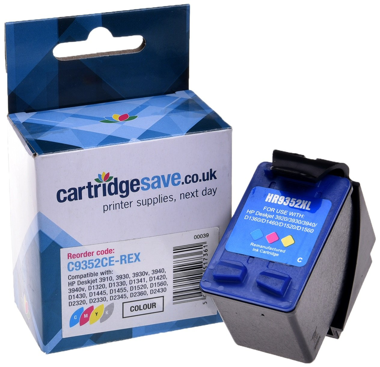 Compatible High Capacity Tri-Colour HP 22XL Ink Cartridge - (Replaces HP C9352CE)