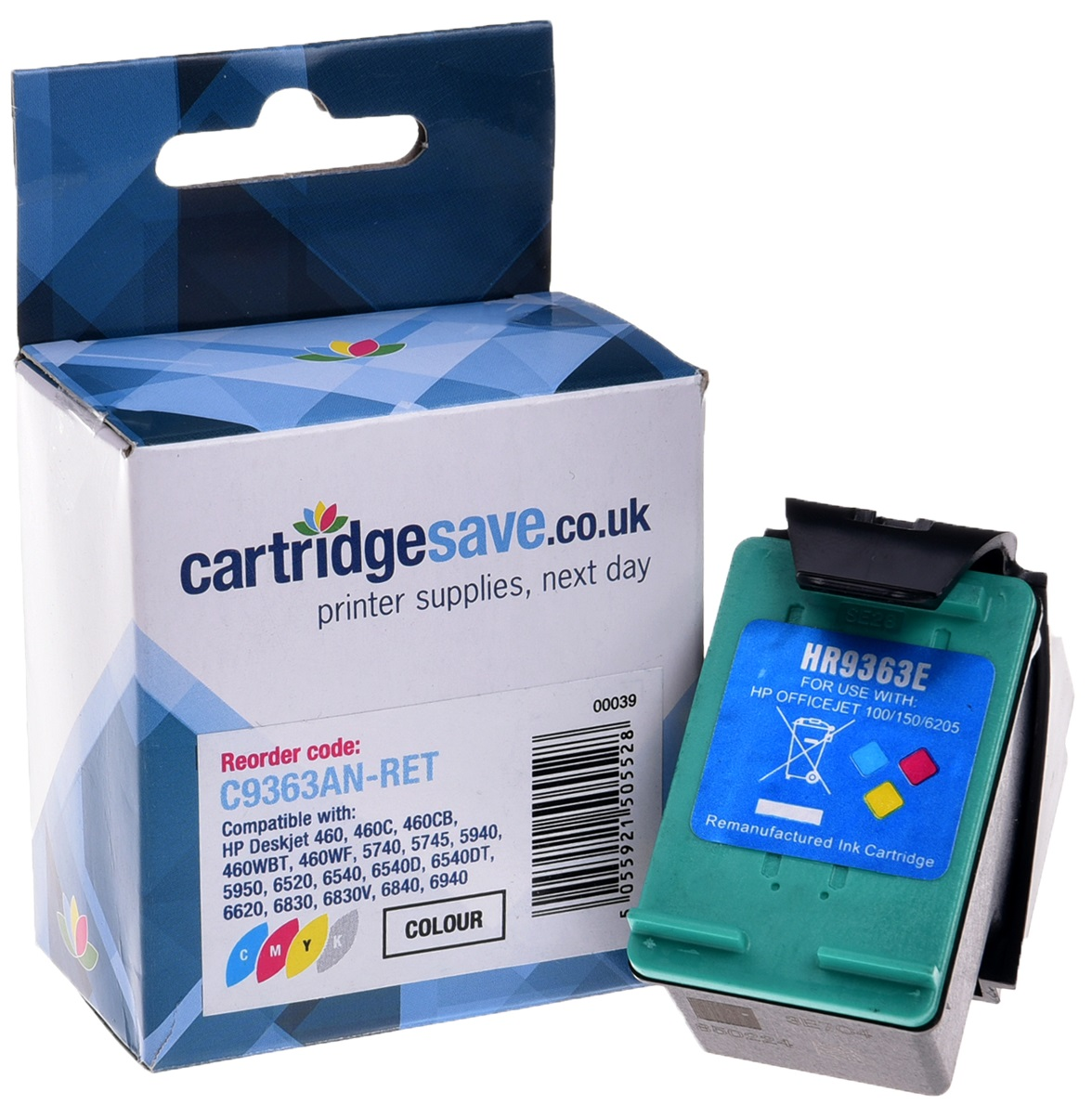 Compatible High Capacity Tri-Colour HP 344 Printer Cartridge - (HP C9363EE)