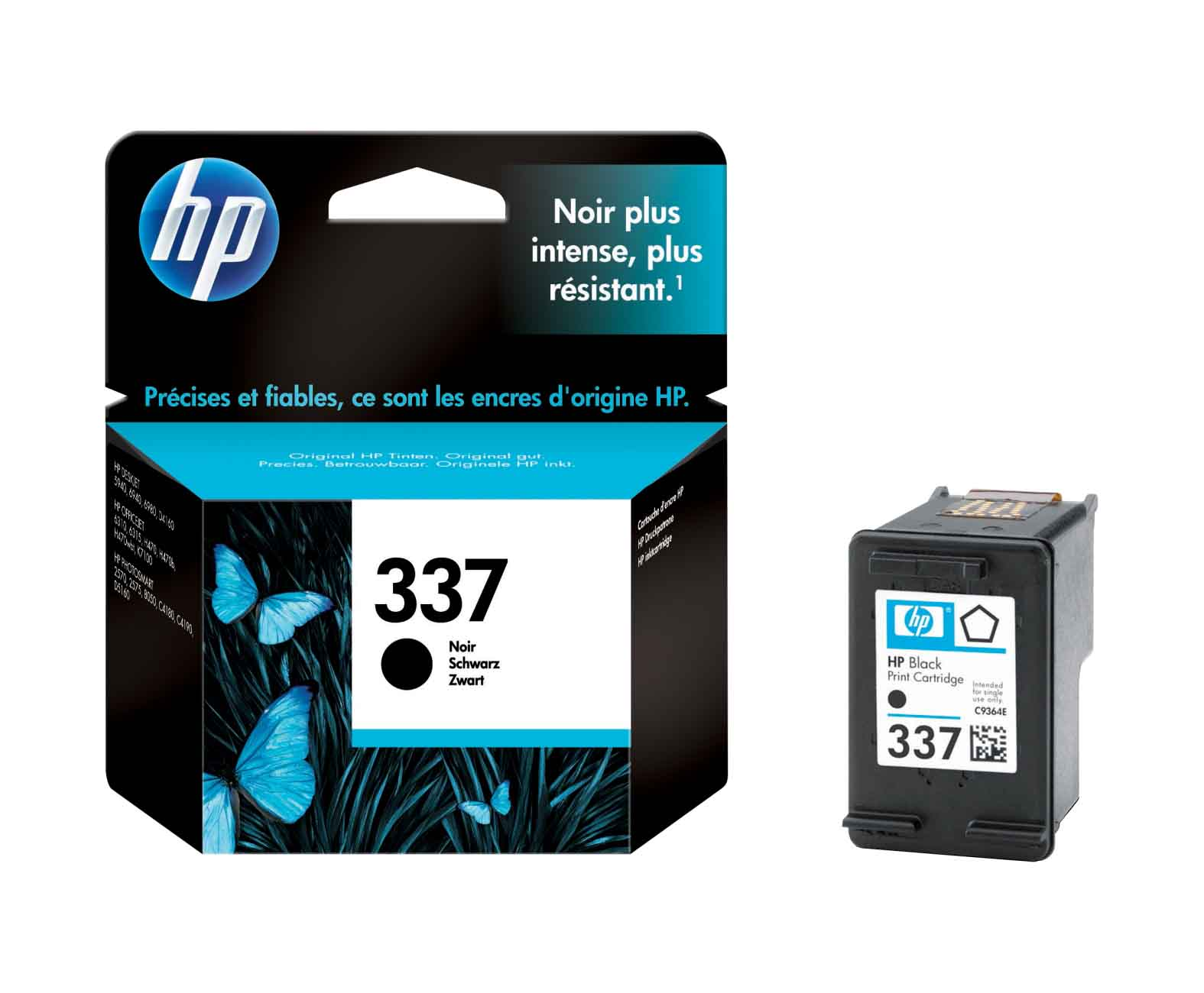 Genuine Black HP 337 Vivera Ink Cartridge - (Vivera C9364EE)