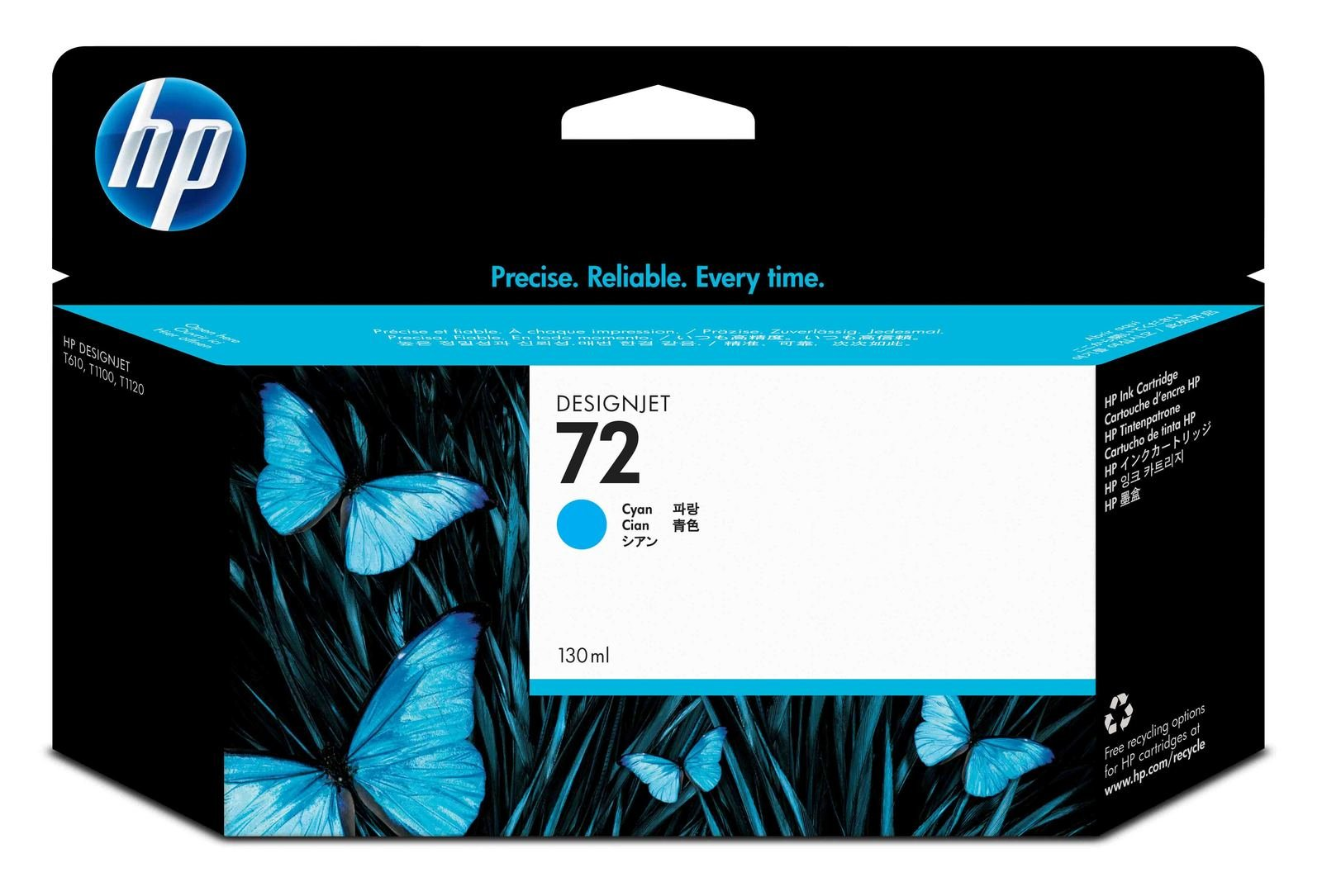 Genuine High Capacity Cyan HP 72 Ink Cartridge - (Vivera C9371A)