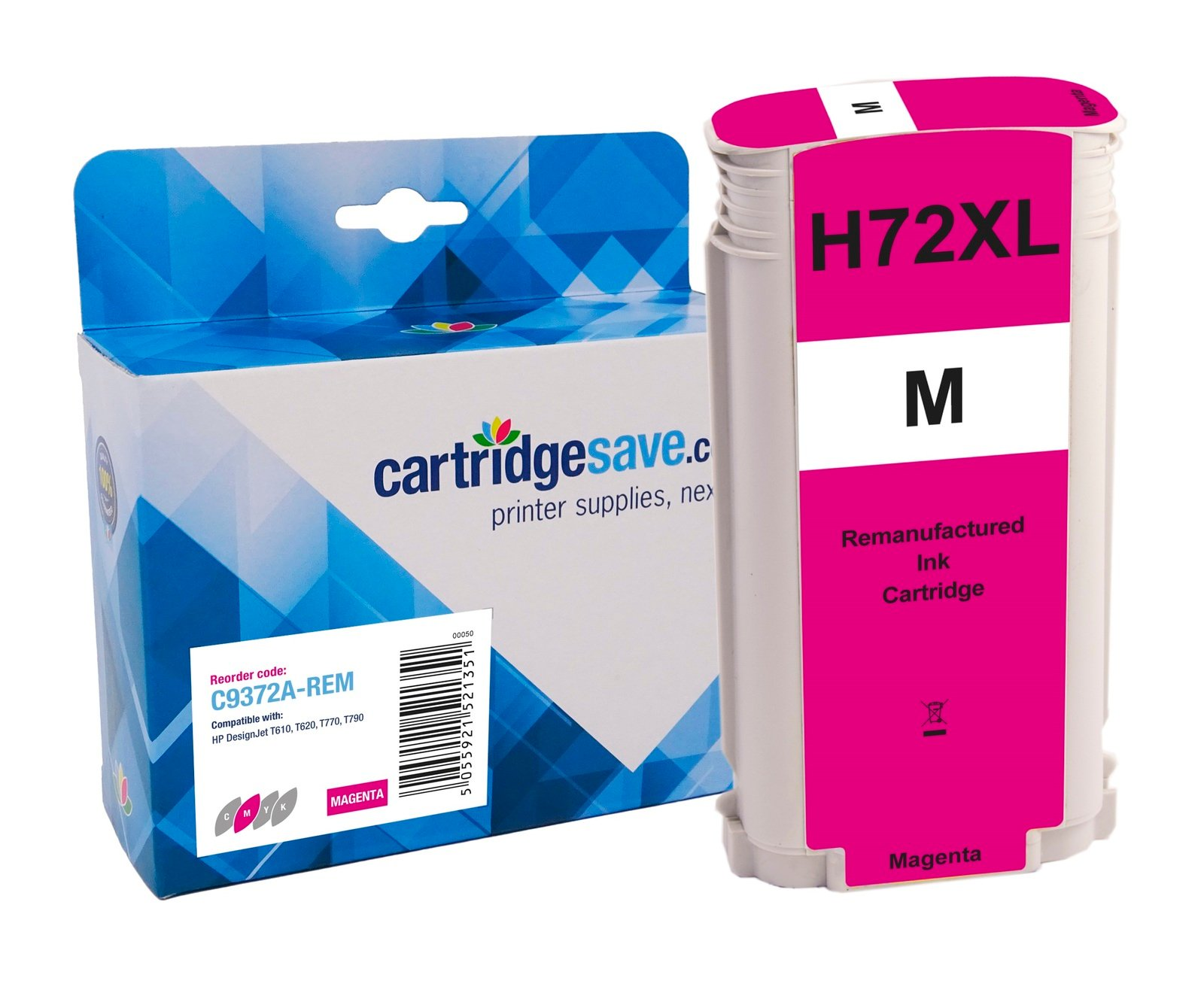 Compatible High Capacity Magenta HP 72 Ink Cartridge - (Vivera C9372A)