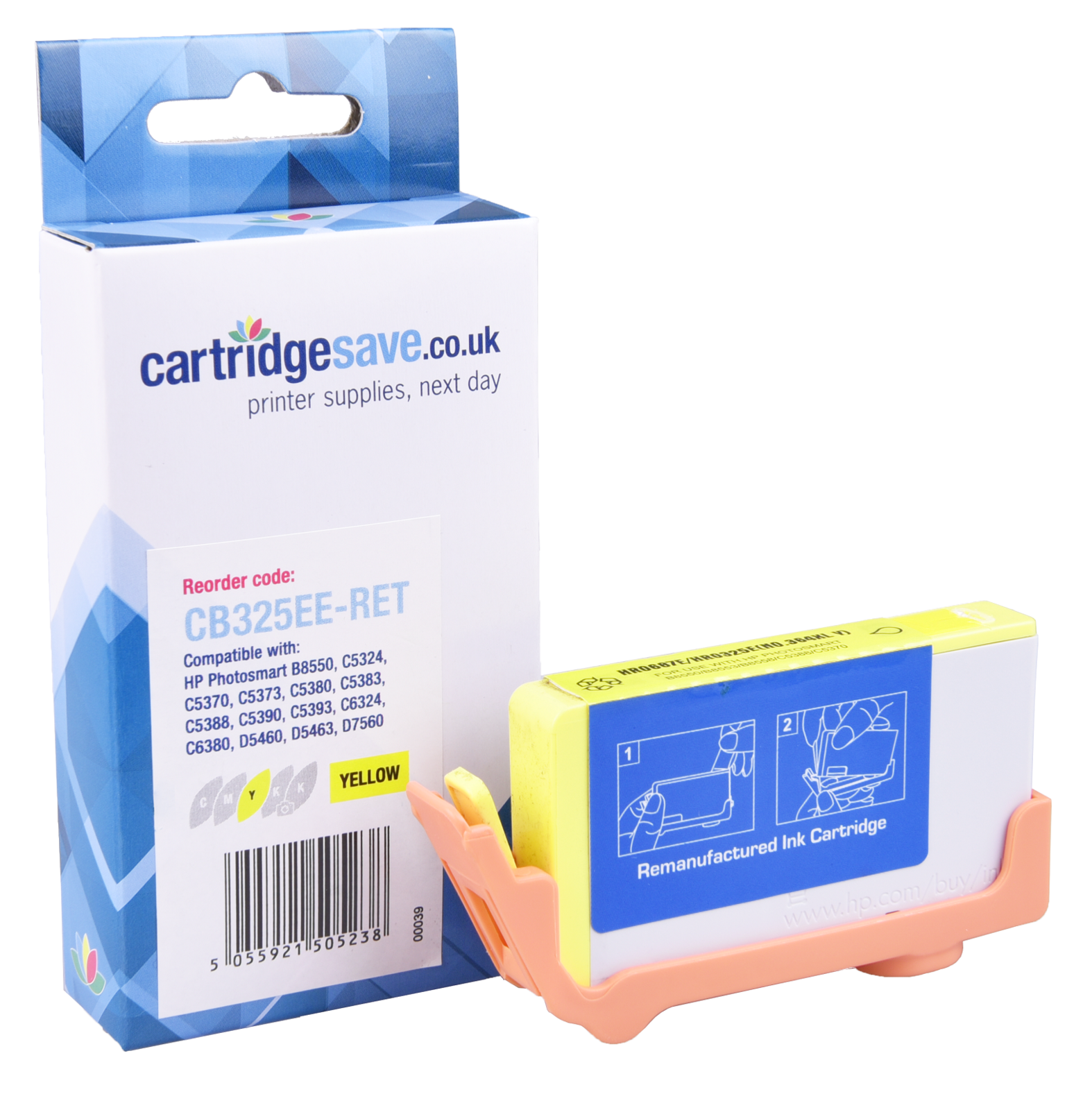 Compatible High Capacity Yellow HP 364XL Ink Cartridge - (Replaces HP CB325EE)