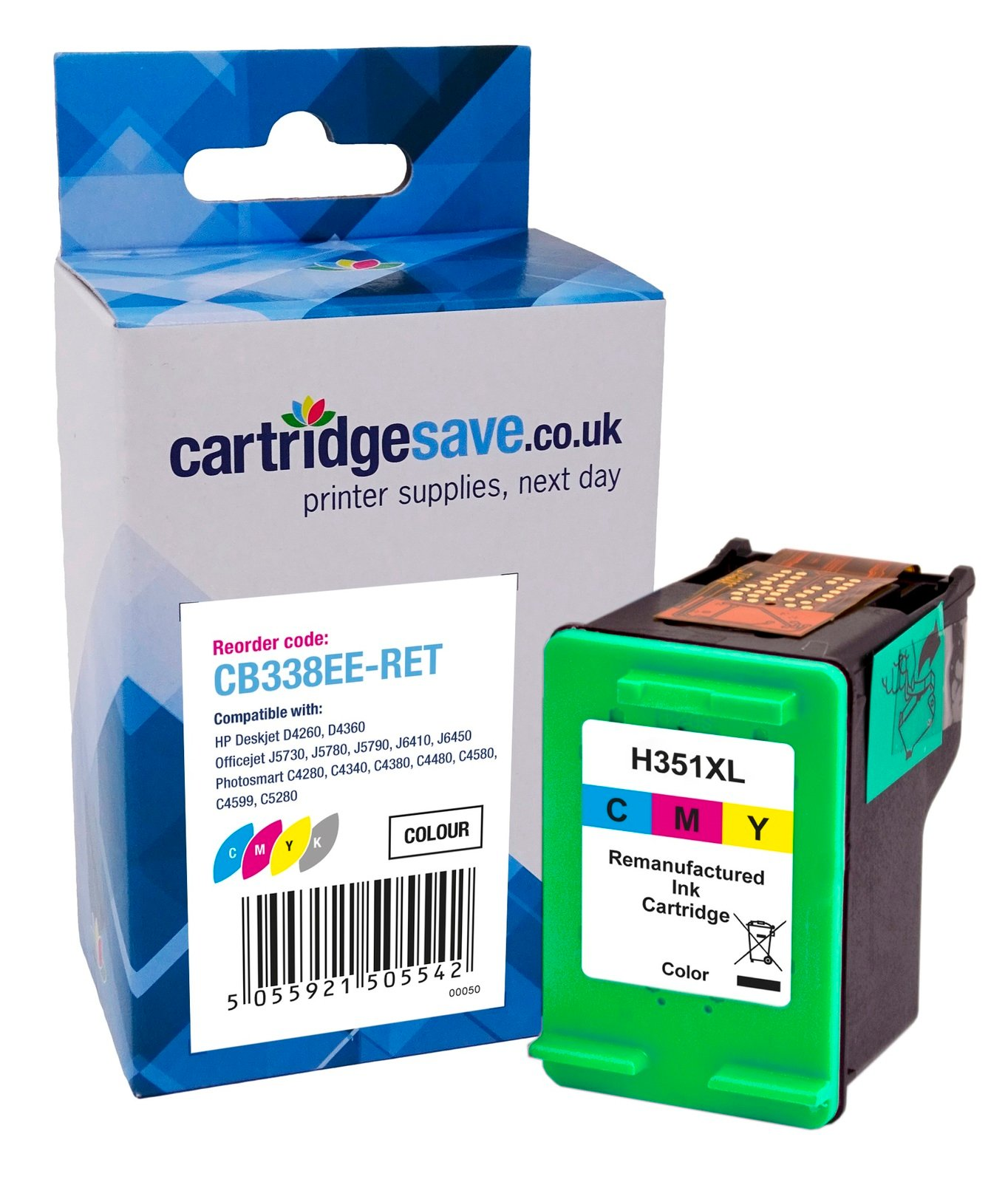 Compatible High Capacity Tri-Colour HP 351XL Ink Cartridge - (HP CB338EE)