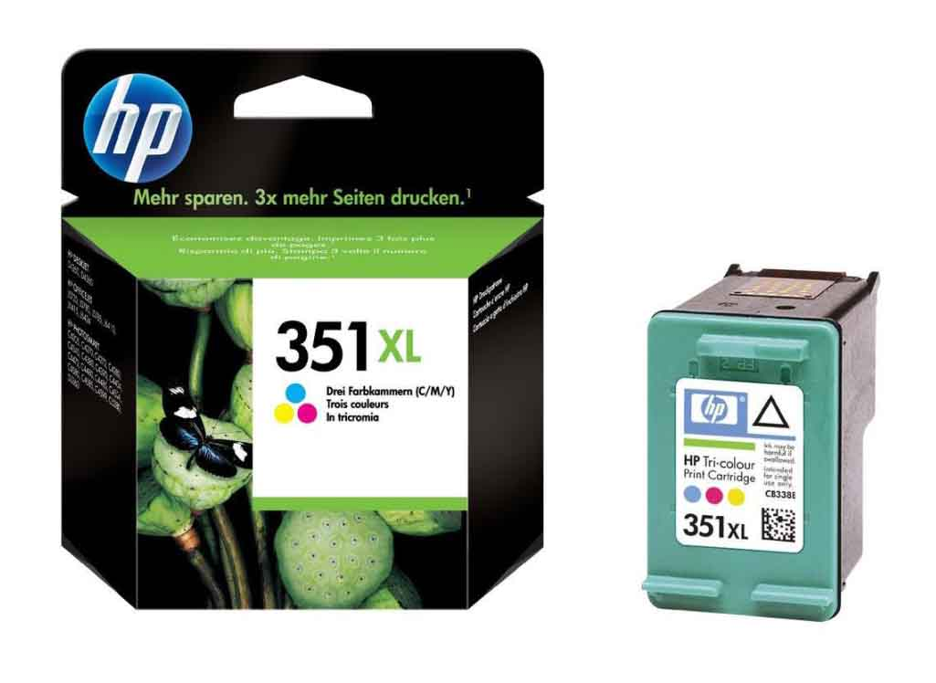 Genuine High Capacity Tri-Colour HP 351XL Ink Cartridge - (Vivera CB338EE)