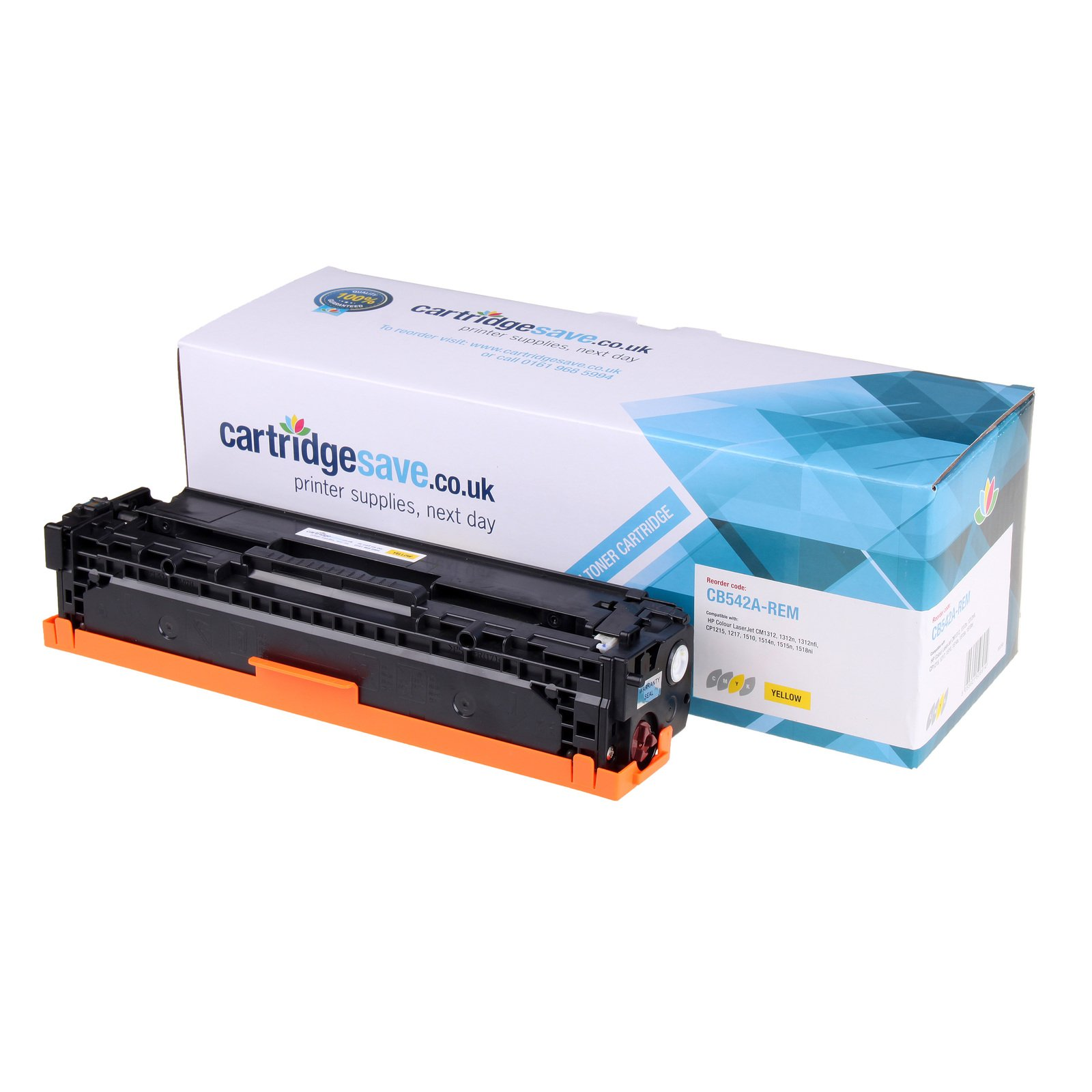 Compatible Yellow HP 125A Toner Cartridge - (CB542A)