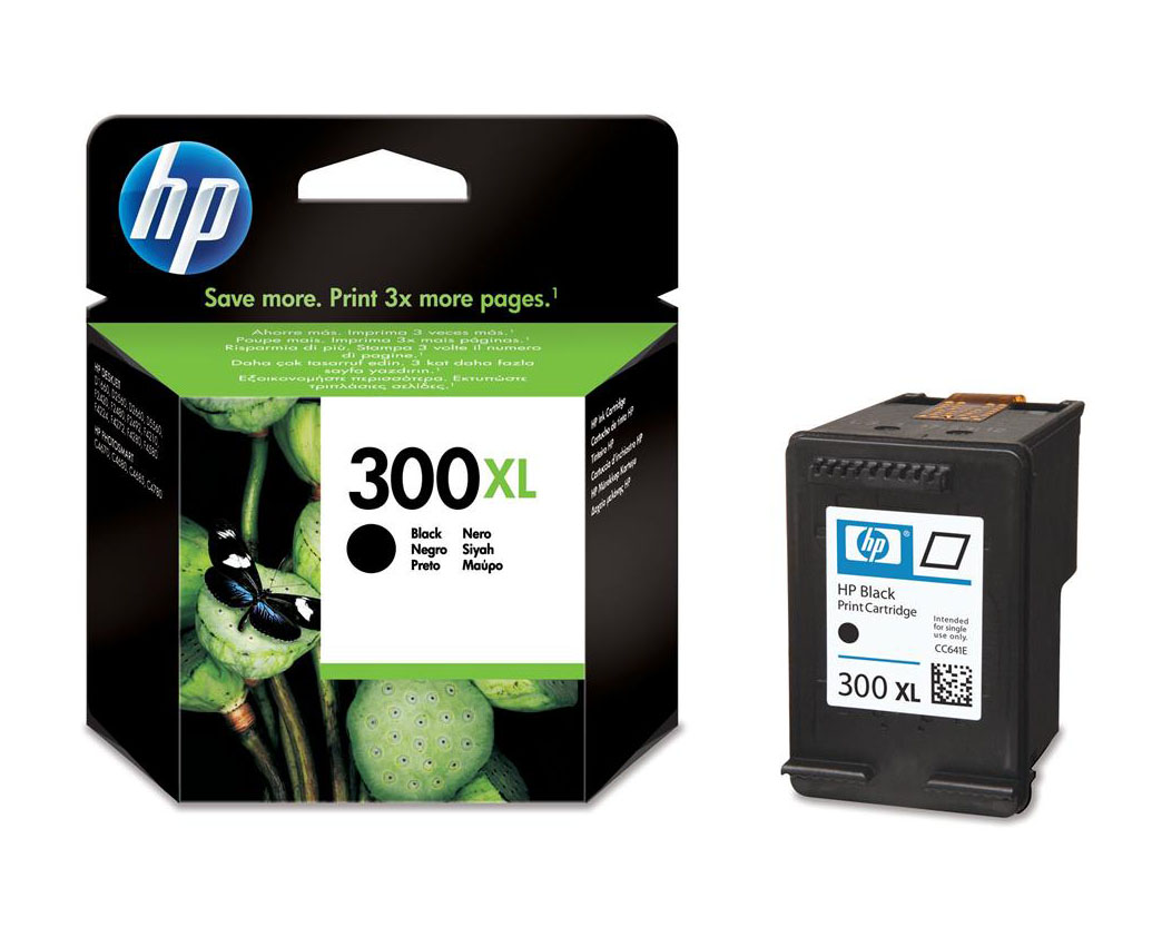 Genuine High Capacity Black HP 300XL Ink Cartridge - (CC641EE)