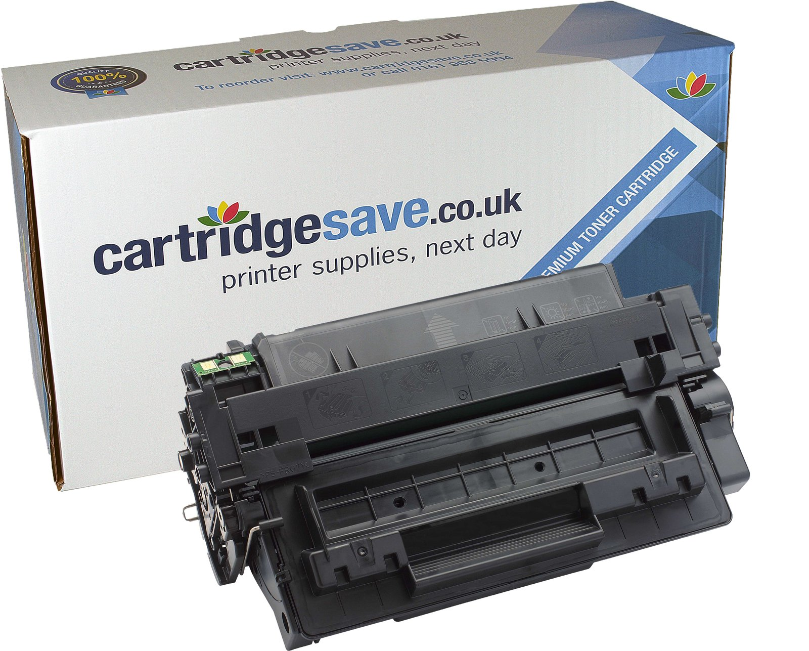 Compatible Black HP 55A Toner Cartridge (Replaces HP CE255A Laser Printer Cartridge)