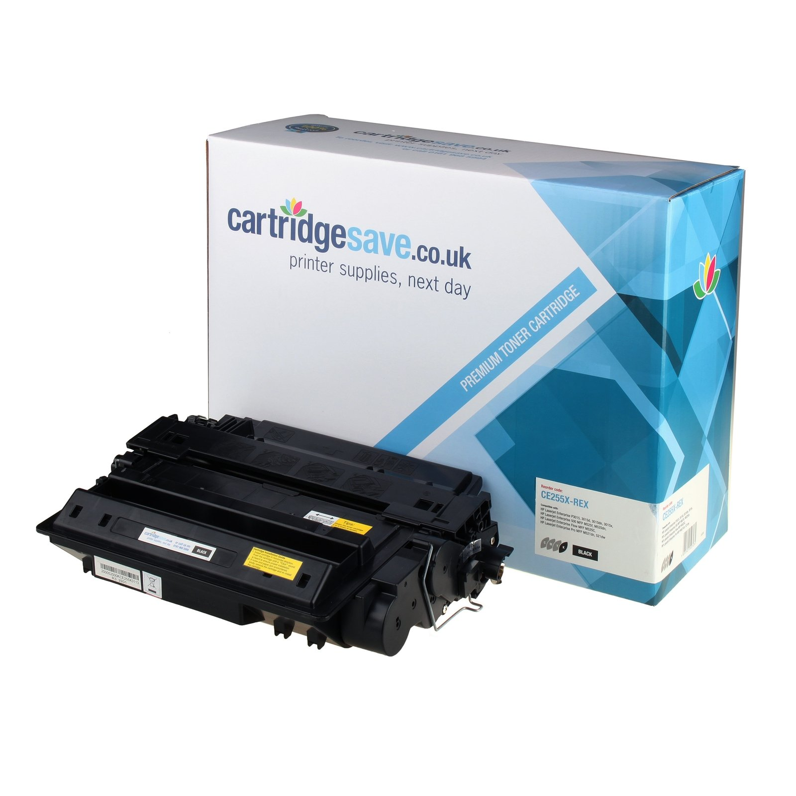 Compatible High Capacity Black HP 55X Toner Cartridge (Replaces HP CE255X Laser Printer Cartridge)