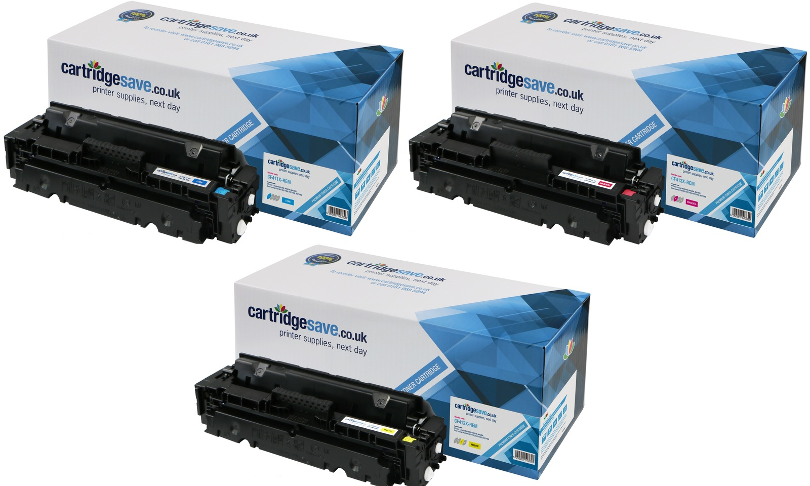Compatible 3 Colour High Capacity HP 410X Toner Cartridge Multipack - (CF252XM)