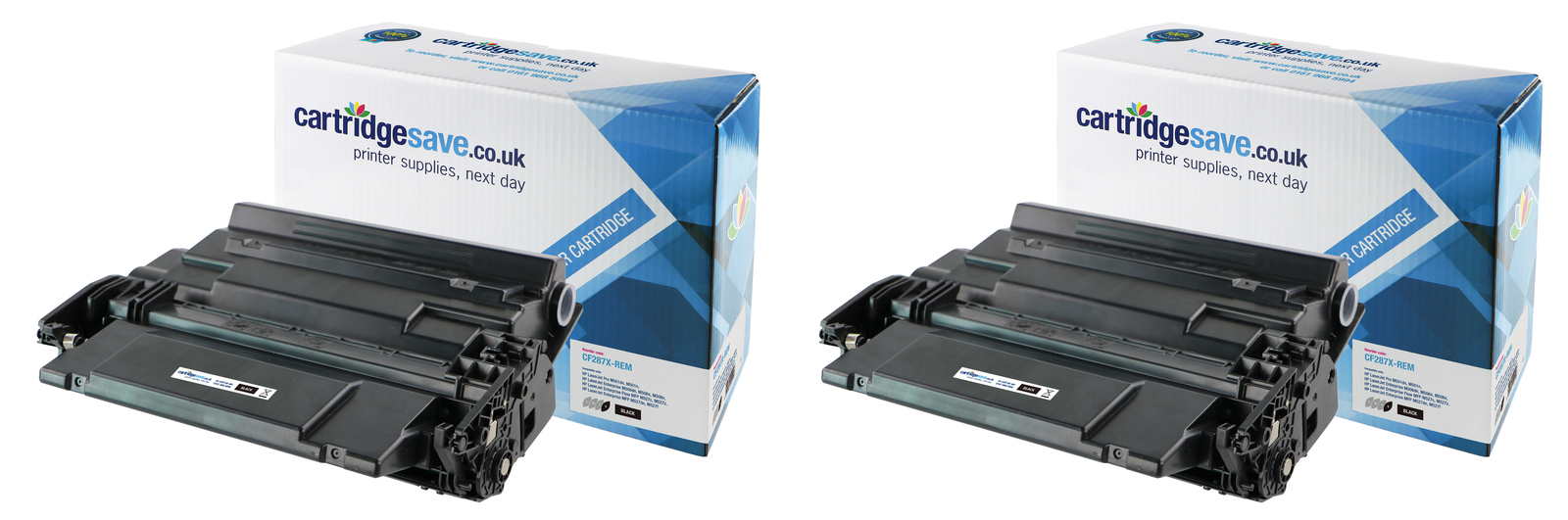 Compatible High Capacity Black HP 87X Toner Cartridge Twin Pack - (Replaces CF287XD)