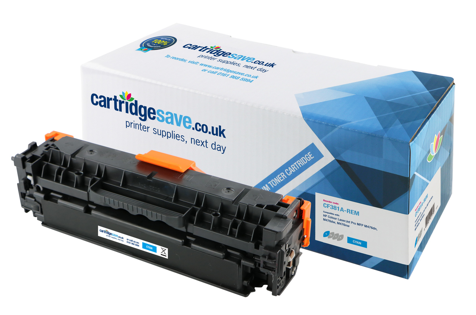 Compatible Cyan HP 312A Toner Cartridge - (CF381A)