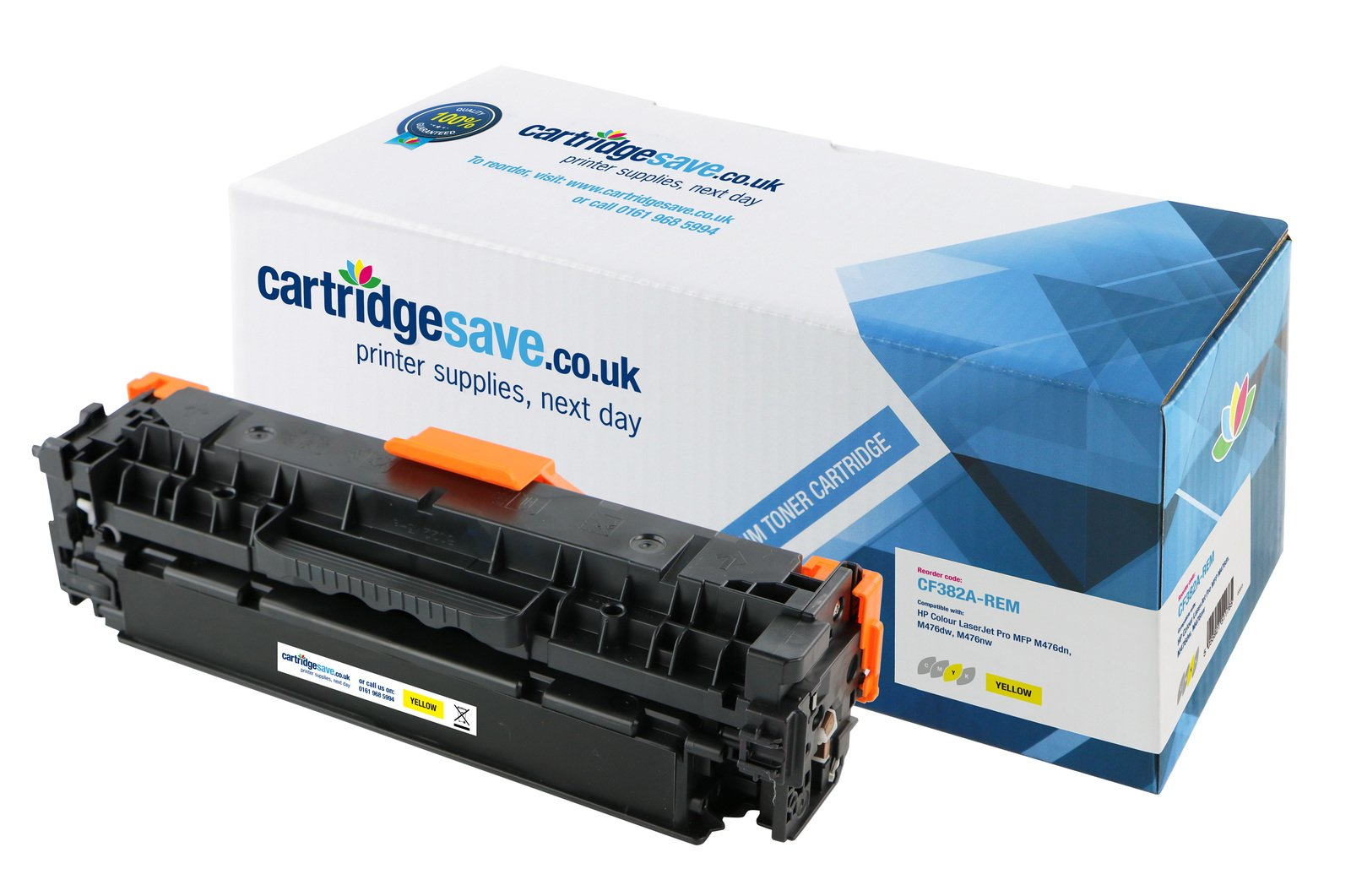 Compatible Yellow HP 312A Toner Cartridge - (CF382A)