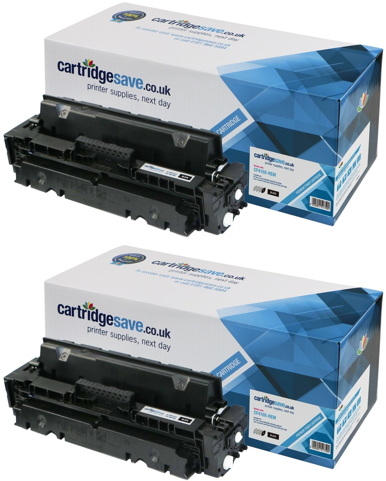 Compatible High Capacity Black HP 410X Twin Pack - (CF410XD)