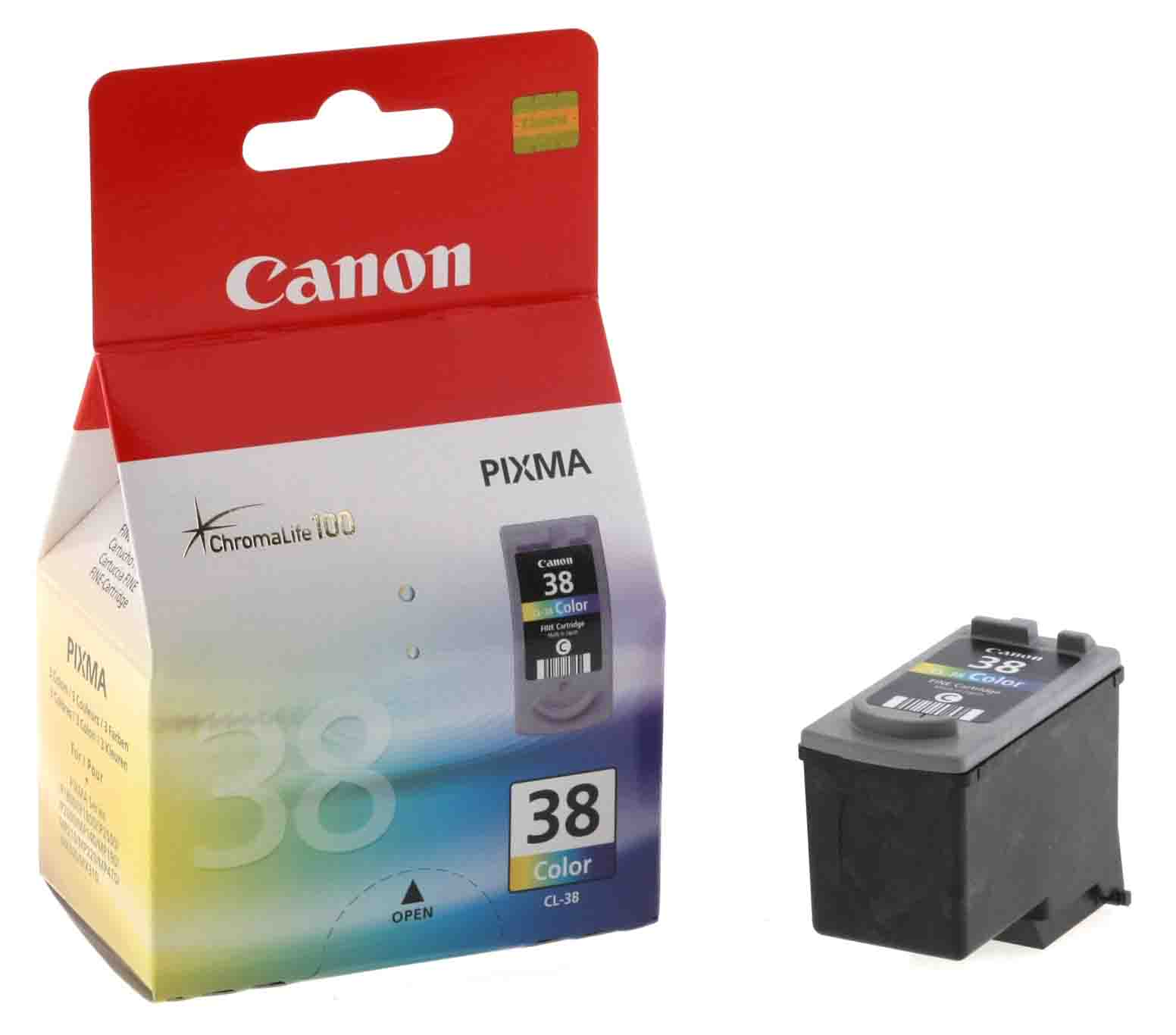 Genuine Light User Tri-Colour Canon CL-38 Ink Cartridge - (2146B001)