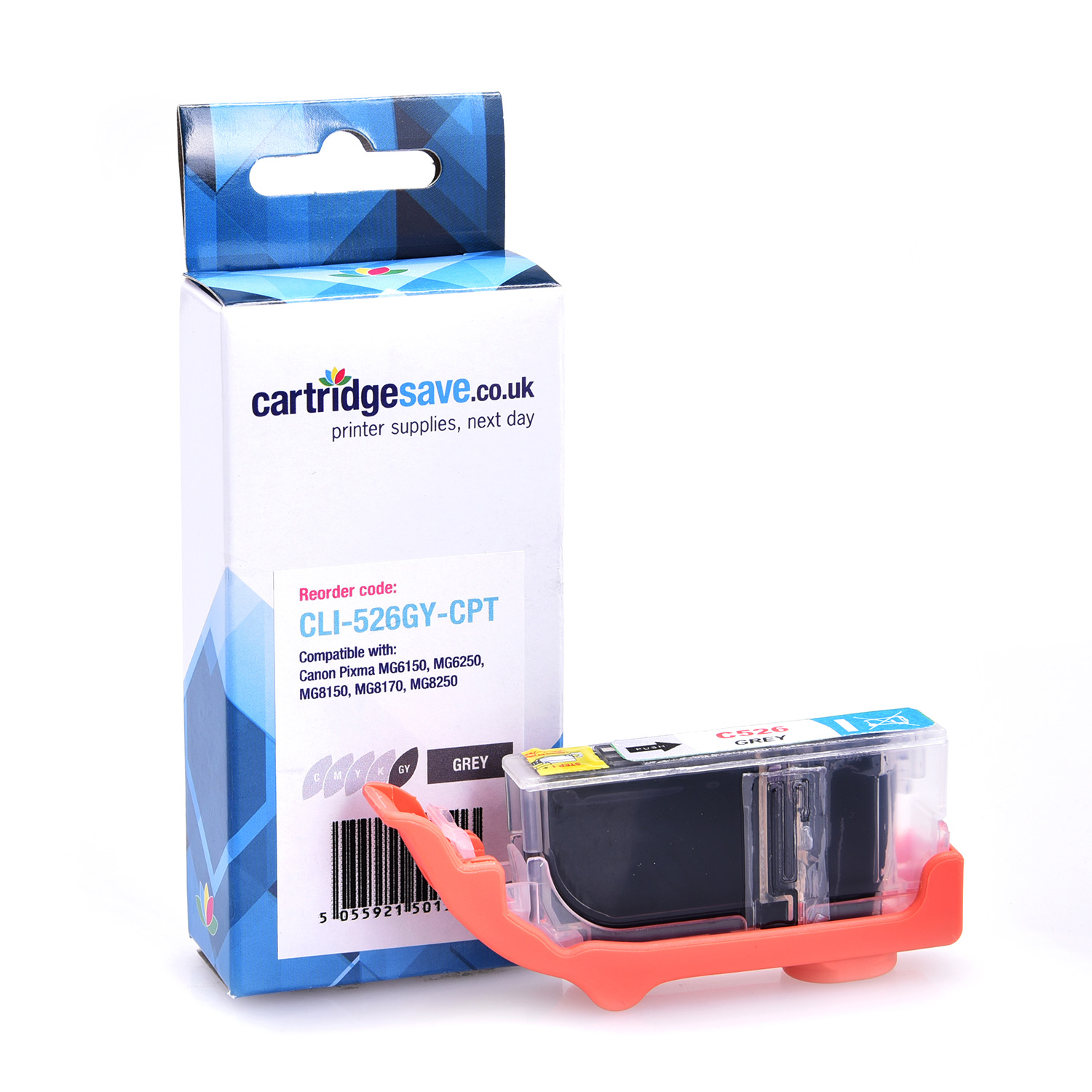 Compatible Grey Canon CLI-526GY Ink Cartridge - (4544B001AA)