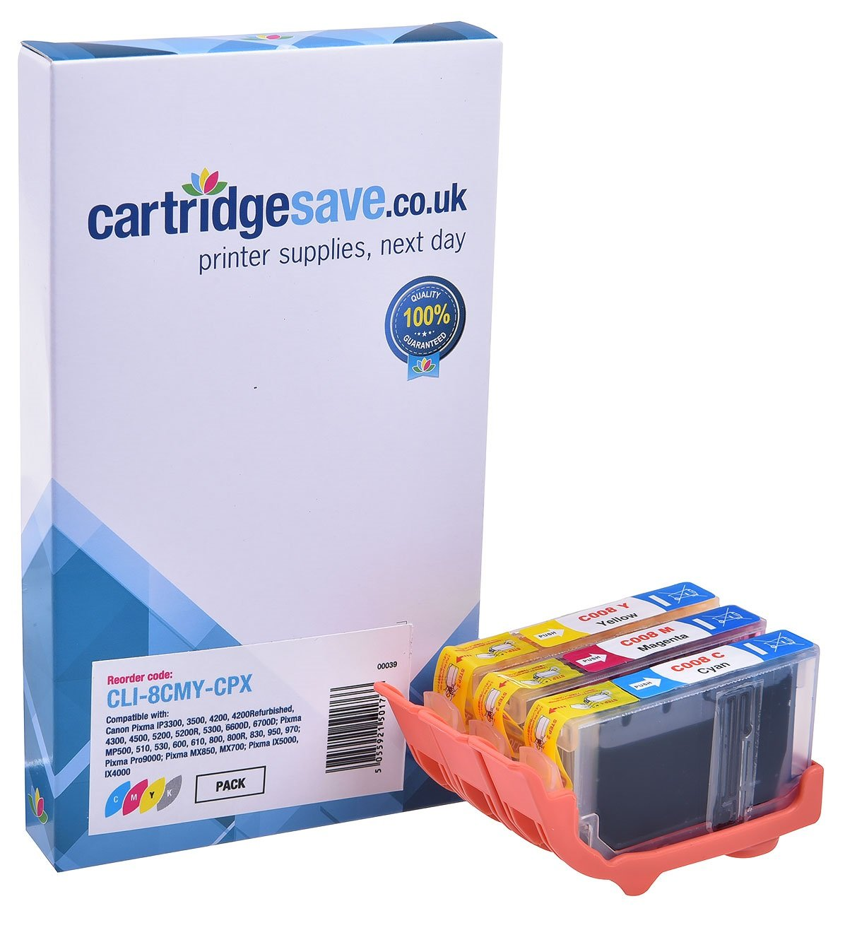 Compatible 3 Colour Canon CLI-8CMY Ink Cartridge Multipack - (Canon 0621B026)