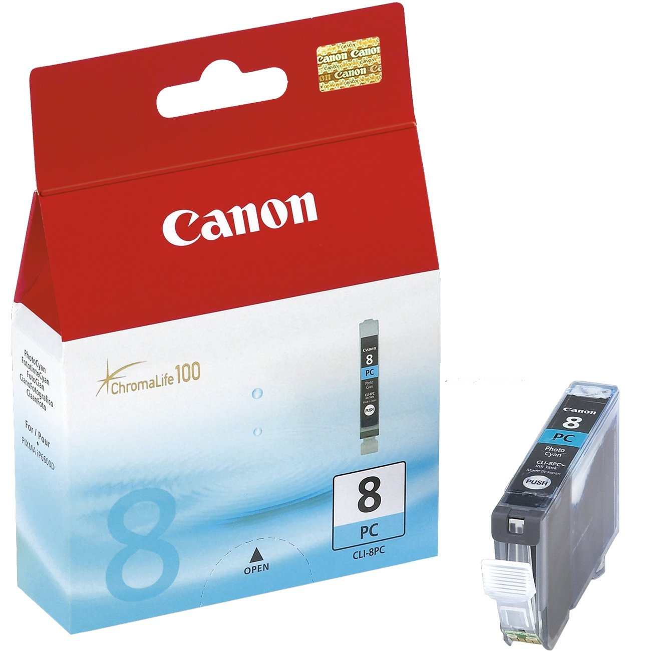 Genuine Photo Cyan Canon CLI-8PC Ink Cartridge - (0624B001)