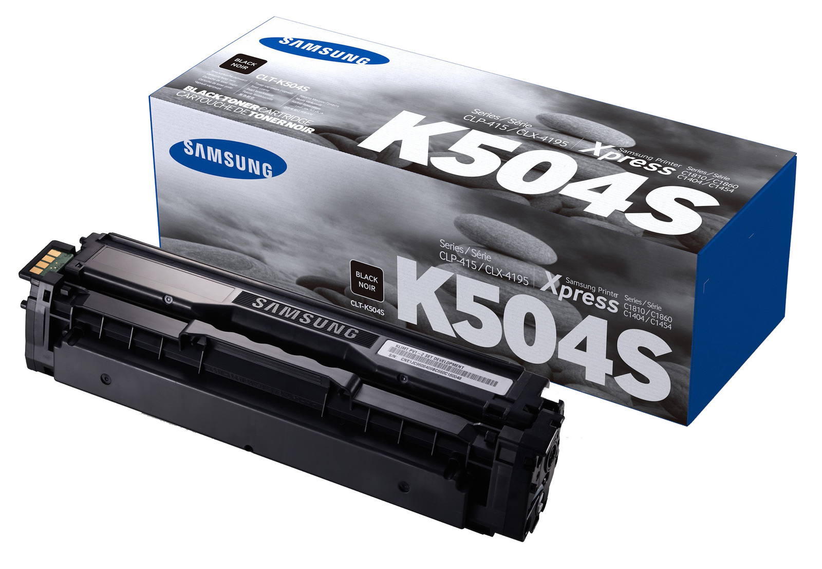 Genuine Black Samsung K504 Toner Cartridge (CLT-K504S/ELS)