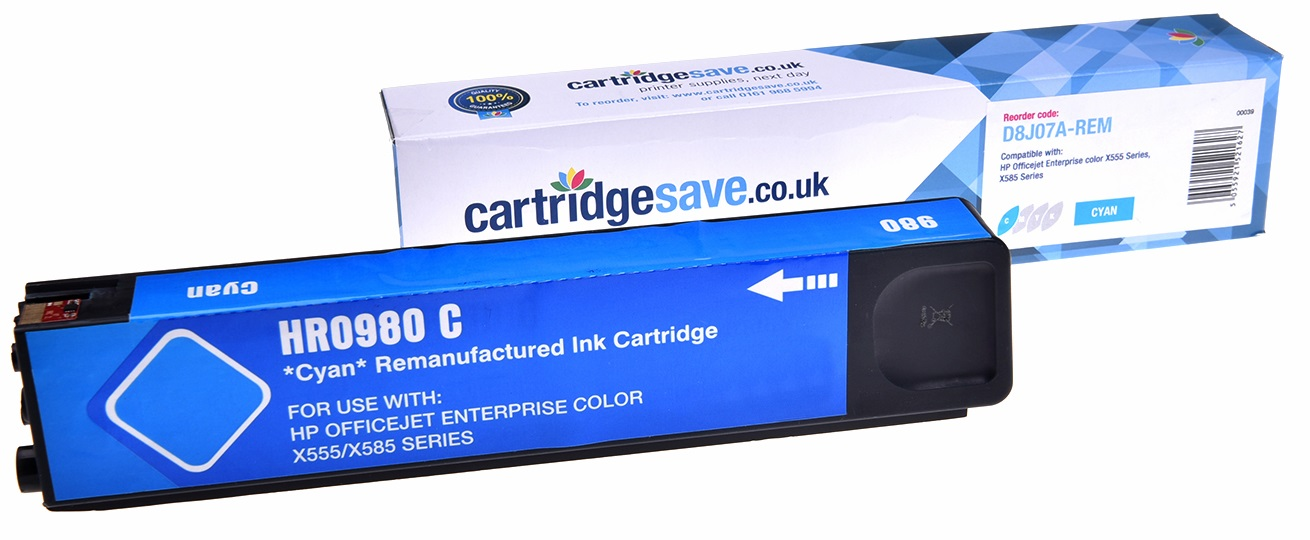 Compatible Cyan HP 980 Ink Cartridge - (Replaces D8J07A)