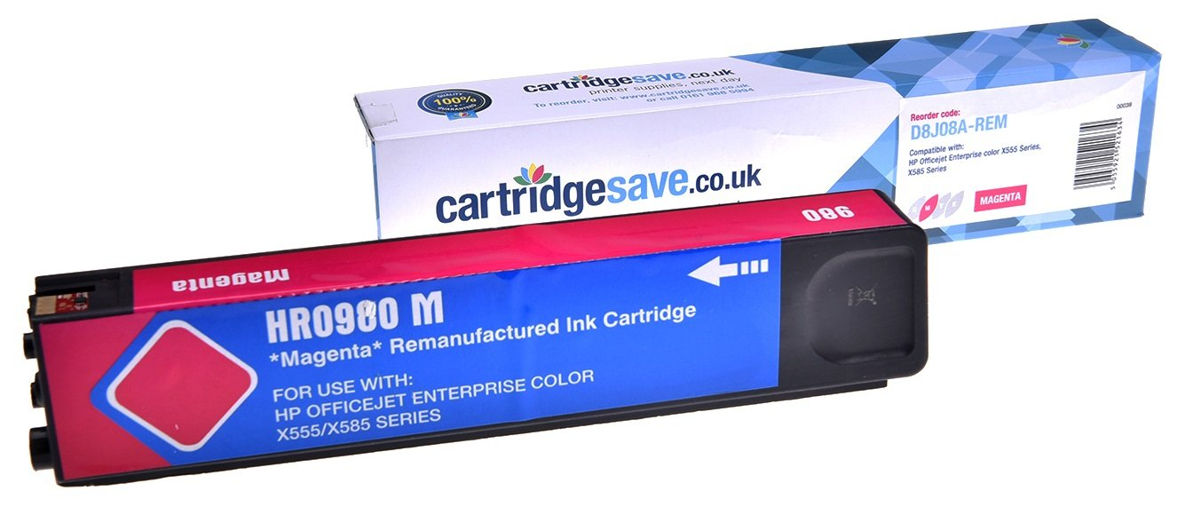Compatible Magenta HP 980 Ink Cartridge - (Replaces D8J08A)