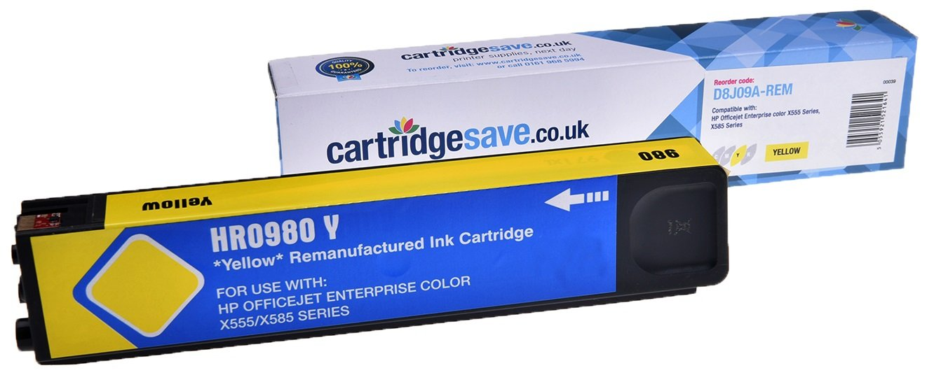 Compatible Yellow HP 980 Ink Cartridge - (Replaces D8J09A)