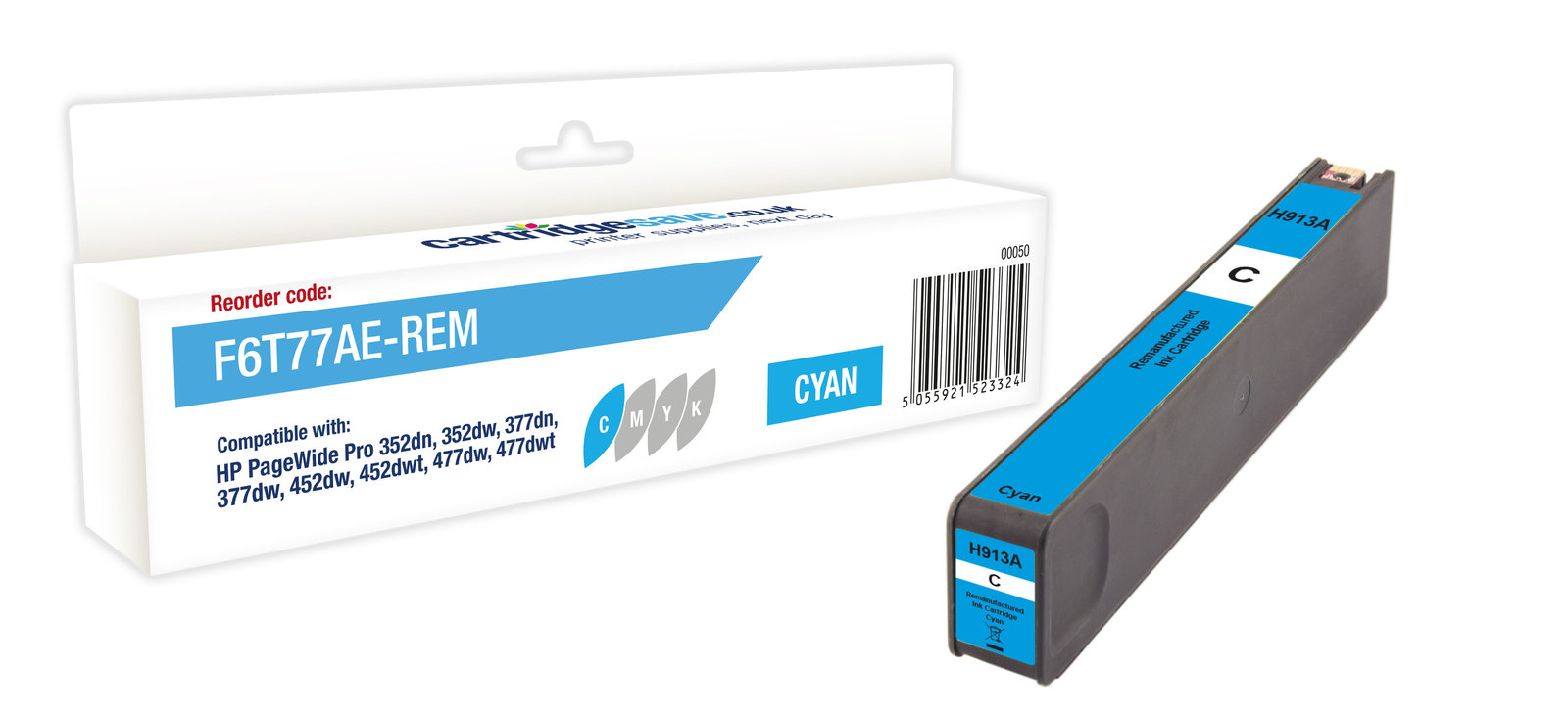 Compatible HP Cyan 913A Ink Cartridge - (F6T77AE)