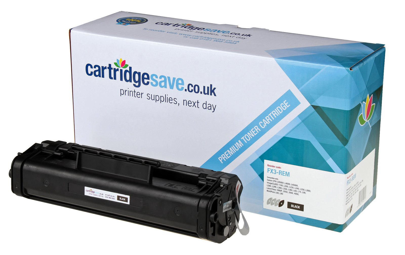 Compatible Black Canon FX3 Toner Cartridge - (Replaces Canon 1557A003BA)