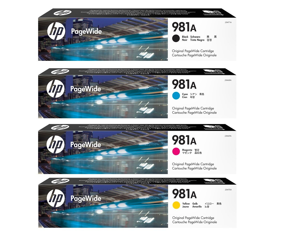 Genuine HP 981A Ink Cartridge Multipack - (J3M71A/J3M68A/J3M69A/J3M70A)