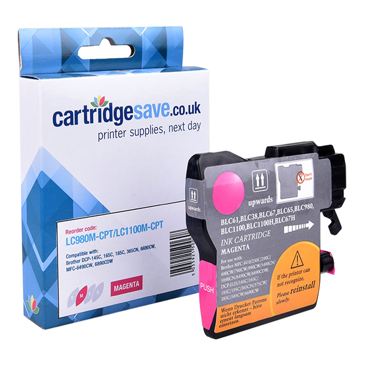 Compatible Magenta Brother LC1100M Ink Cartridge (LC-1100M Inkjet Printer Cartridge)