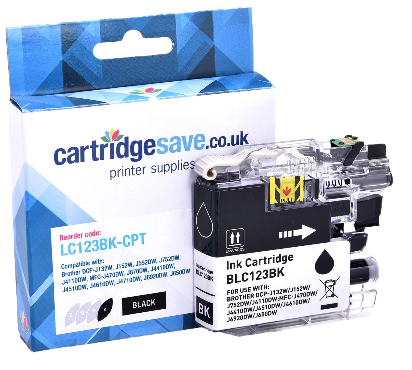 Compatible Brother LC123BK Black Ink Cartridge (LC-123BK Inkjet Printer Cartridge)