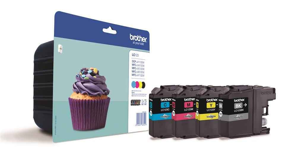 Genuine Brother LC123 4 Colour Ink Cartridge Multipack (LC-123BK/LC-123C/LC-123M/LC-123Y)