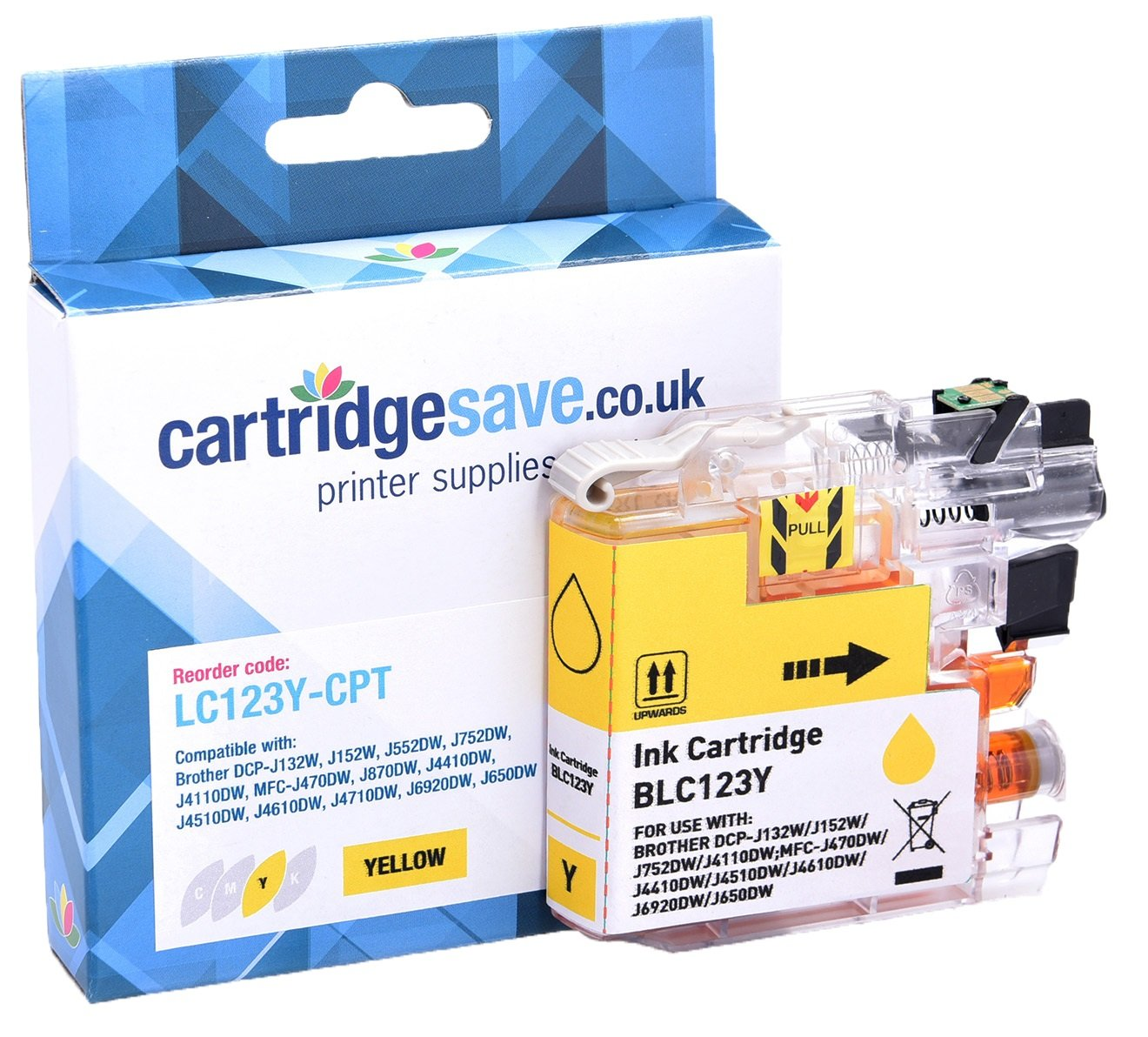 Compatible Brother LC123Y Yellow Ink Cartridge (LC-123Y Inkjet Printer Cartridge)