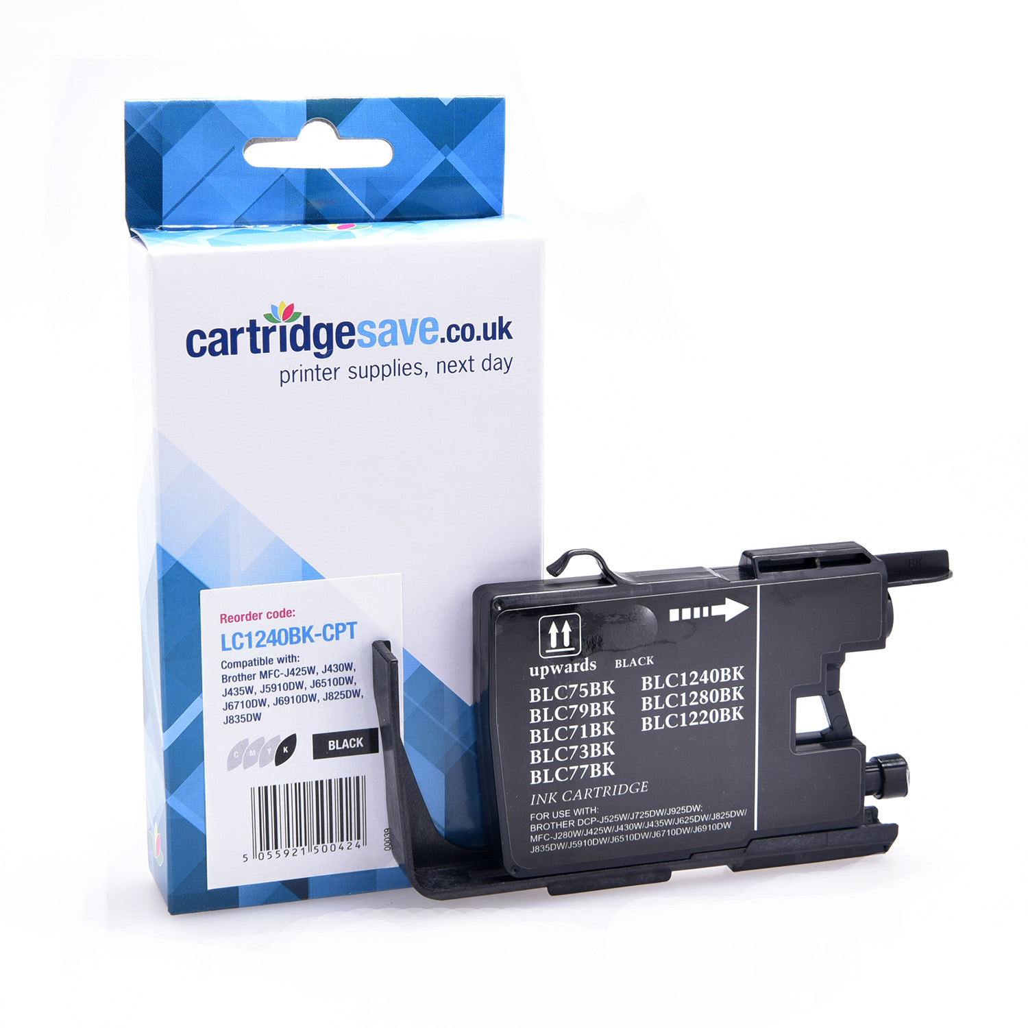 Compatible Black Brother LC1240BK Ink Cartridge (Replaces LC-1240BK Inkjet Printer Cartridge)