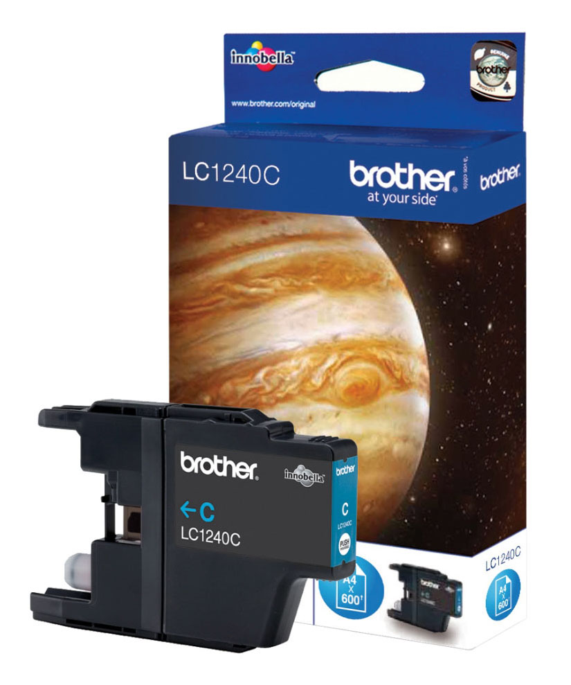 Genuine Cyan Brother LC1240C Ink Cartridge (LC-1240C Inkjet Printer Cartridge)