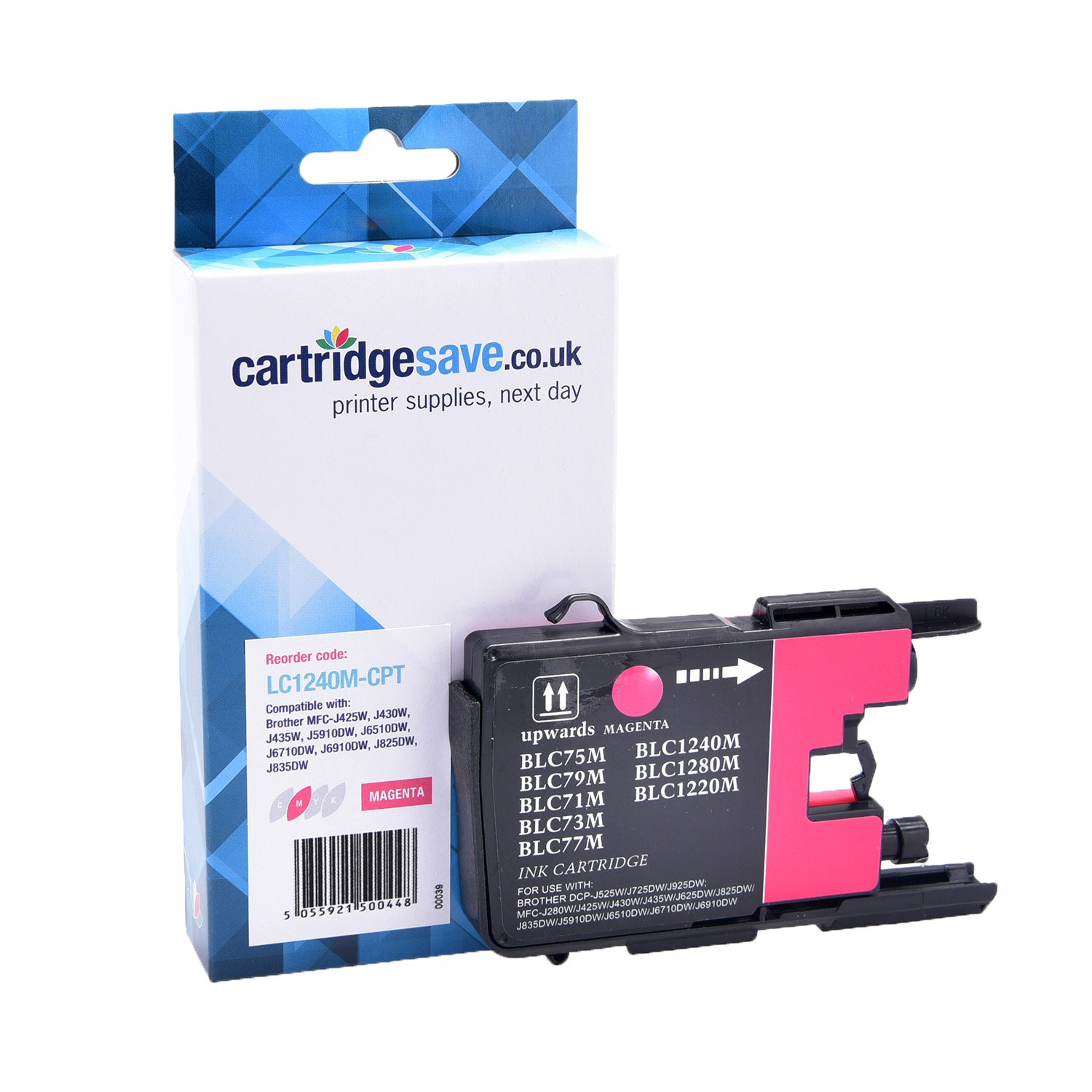 Compatible Magenta Brother LC1240M Ink Cartridge (Replaces LC-1240M Inkjet Printer Cartridge)