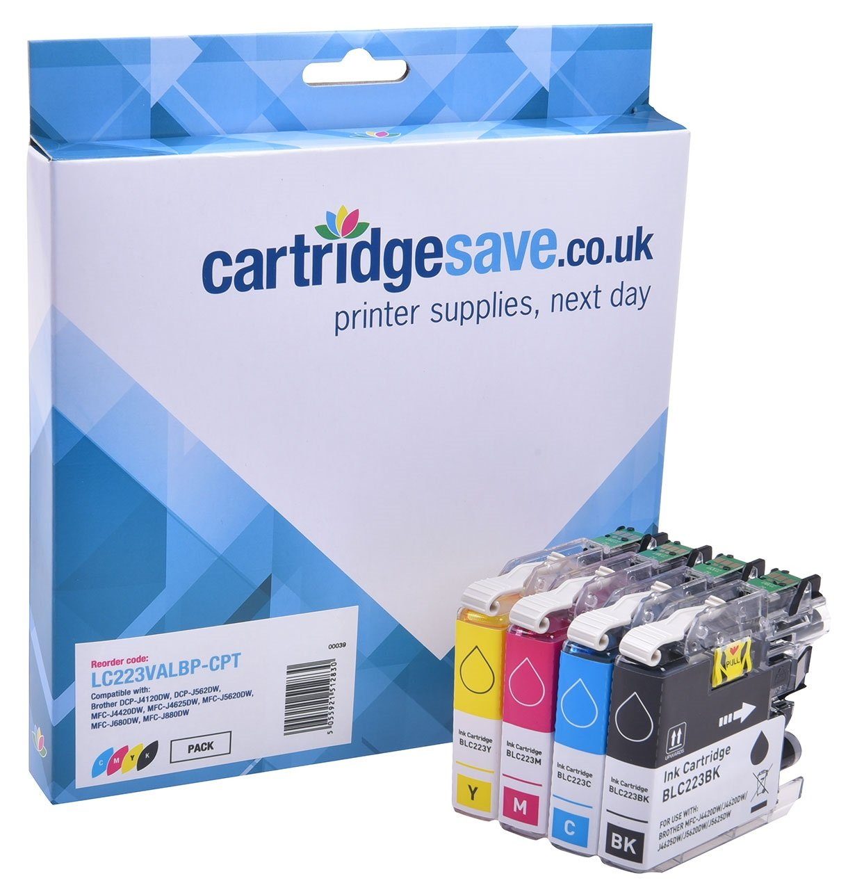 Compatible Brother LC223 4 Colour Ink Cartridge Multipack (LC223BK/LC223C/LC223M/LC223Y)