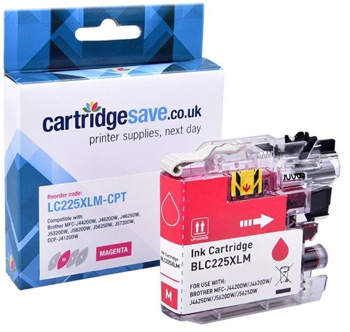 Compatible Brother LC225XL High Capacity Magenta Ink Cartridge (LC225XLM Inkjet Printer Cartridge)