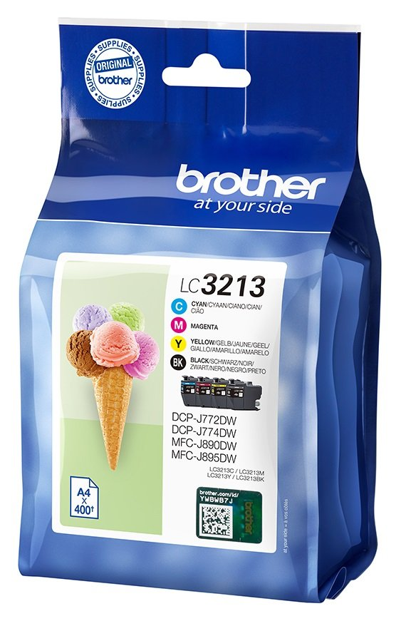 Genuine High Capacity 4 Colour Brother LC3213VAL Ink Cartridge Multipack (LC3213BK/C/M/Y)