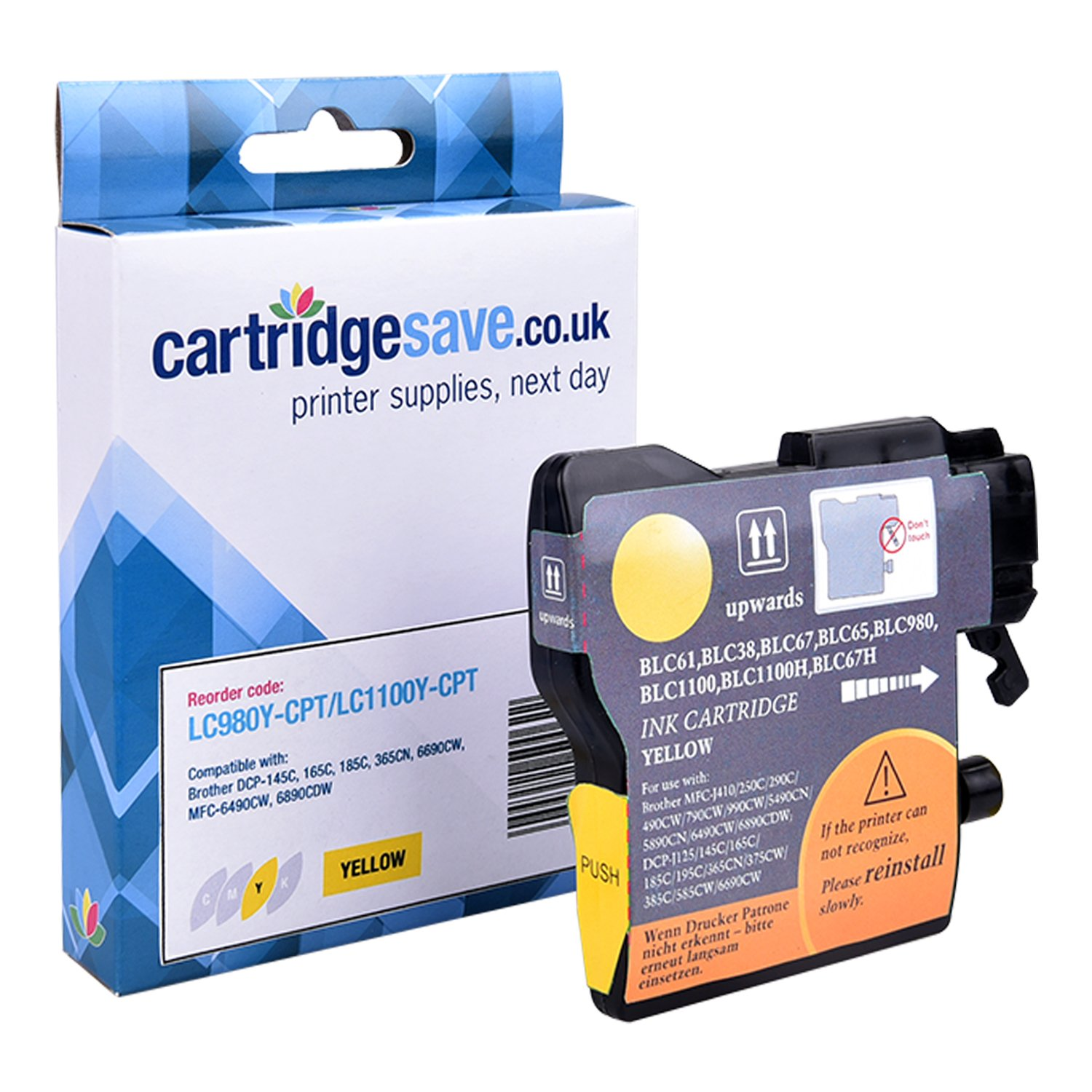Compatible Yellow Brother LC980Y Ink Cartridge (LC-980Y Inkjet Printer Cartridge)