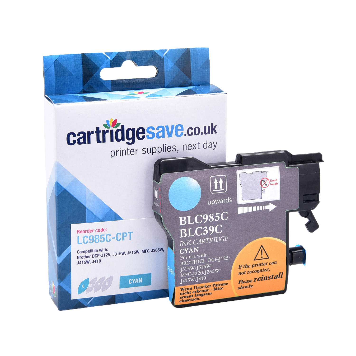 Compatible Cyan Brother LC985C Ink Cartridge (LC-985C Inkjet Printer Cartridge)