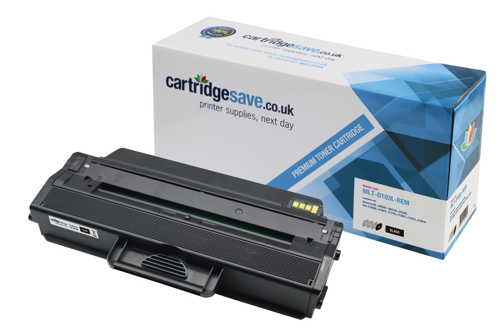 Compatible High Capacity Black Samsung 103 Toner Cartridge (Replaces MLT-D103L/ELS Laser Printer Cartridge)