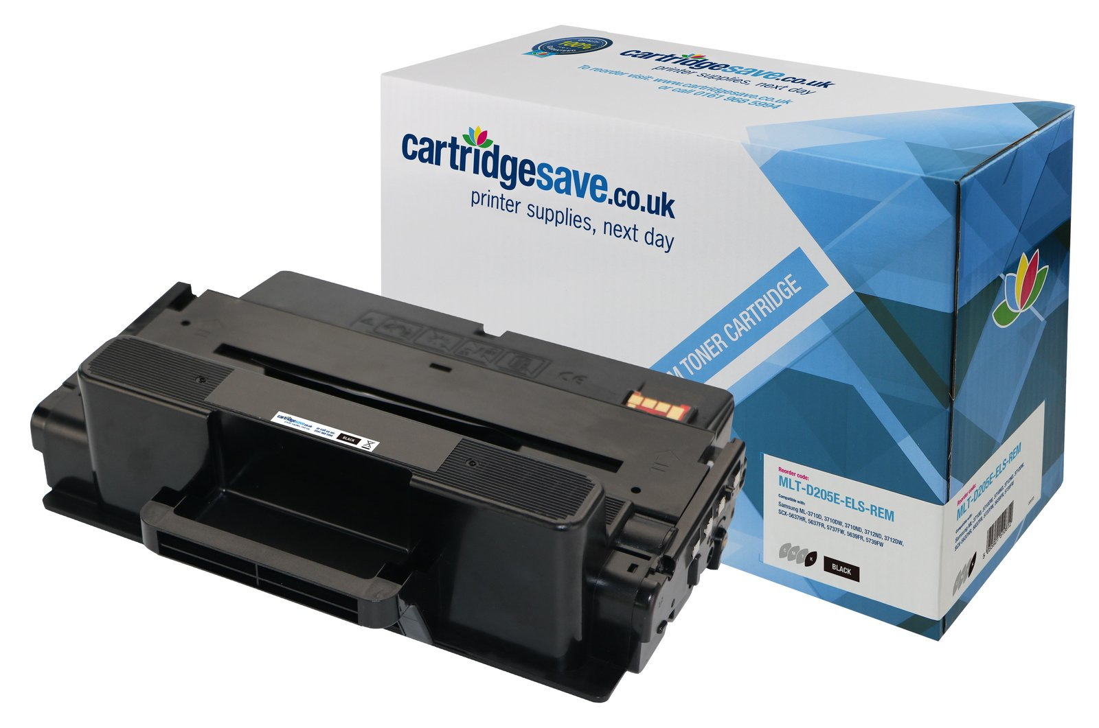 Compatible Extra High Capacity Black Samsung 205 Toner Cartridge (Replaces MLT-D205E/ELS Laser Printer Cartridge)