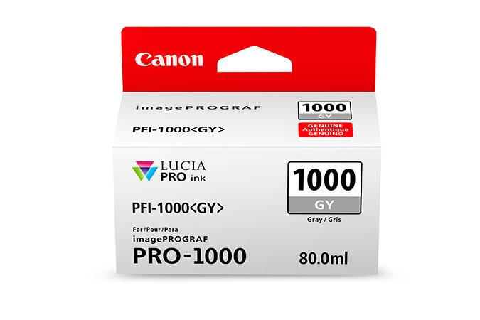 Genuine Grey Canon PFI-1000GY Ink Cartridge - (PFI1000GY)