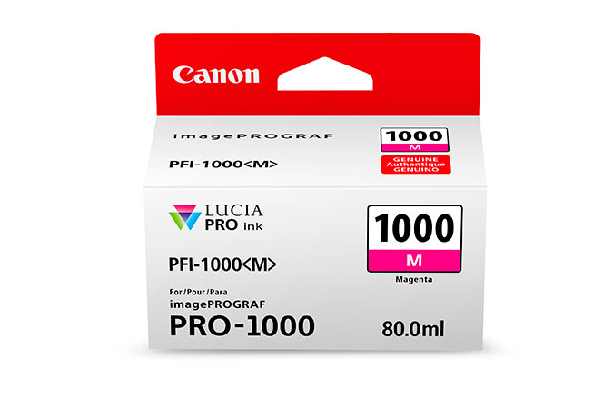 Genuine Magenta Canon PFI-1000M Ink Cartridge - (PFI1000M)