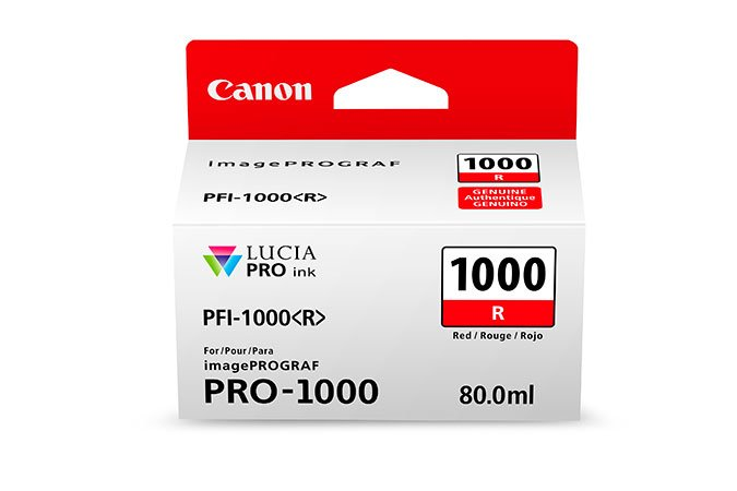 Genuine Red Canon PFI-1000R Ink Cartridge - (PFI1000R)